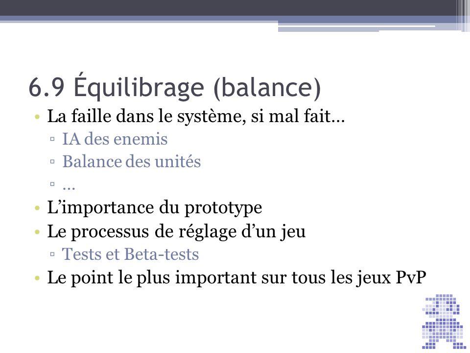 6.9 Équilibrage (balance)