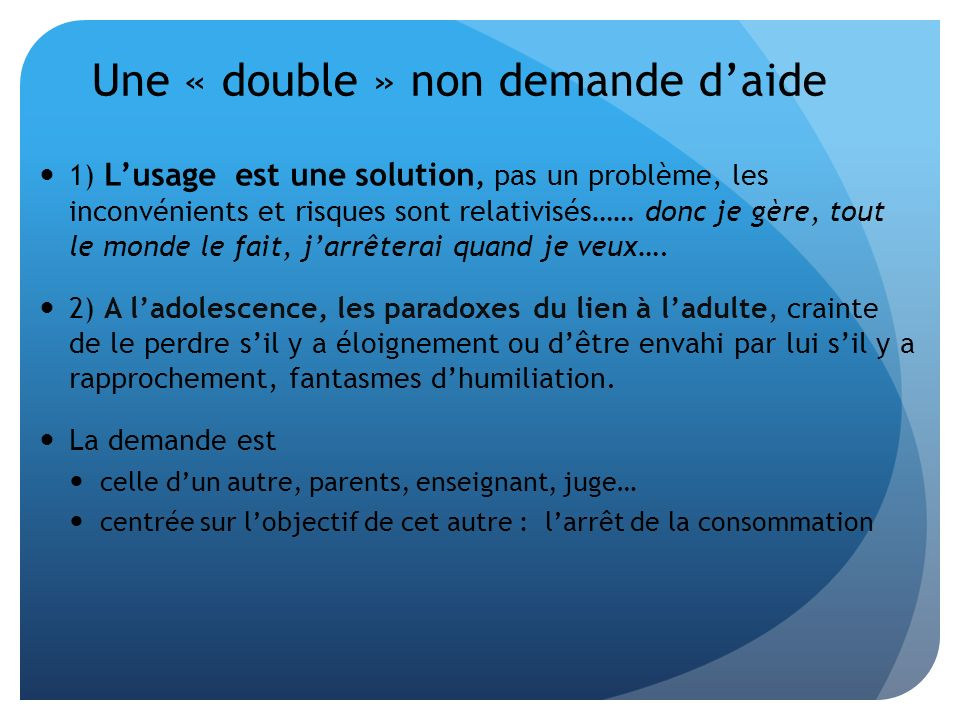 Une « double » non demande d'aide