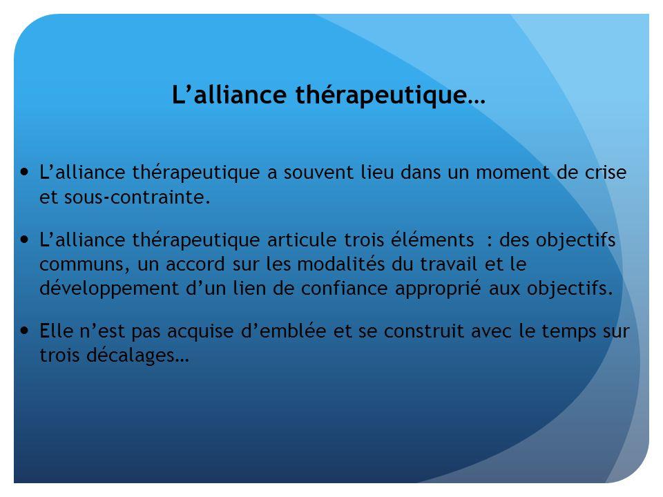 L'alliance thérapeutique…