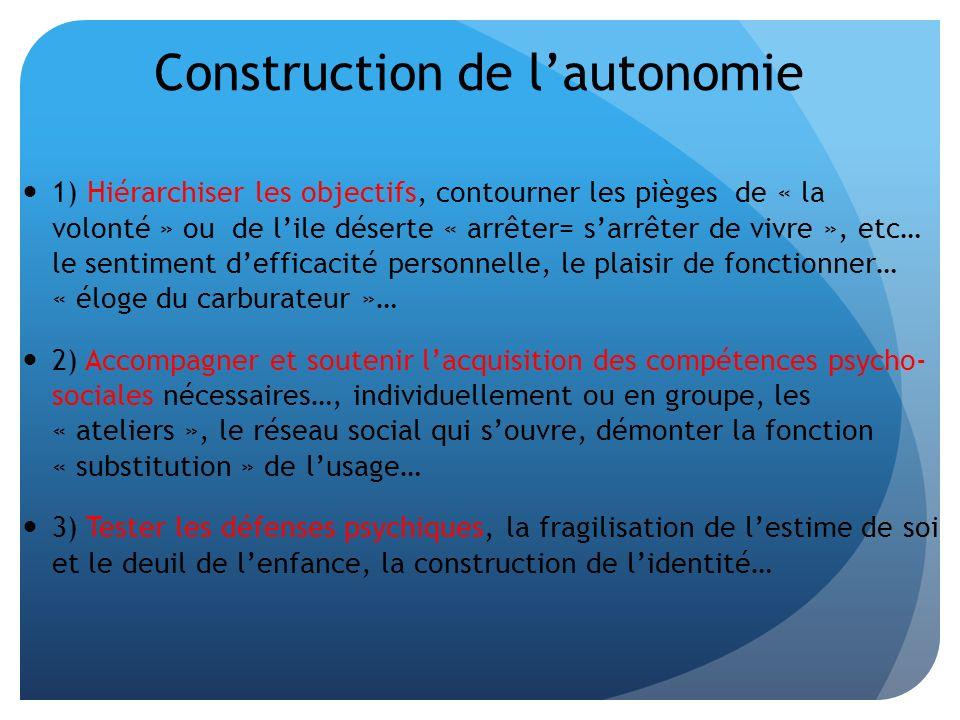 Construction de l'autonomie