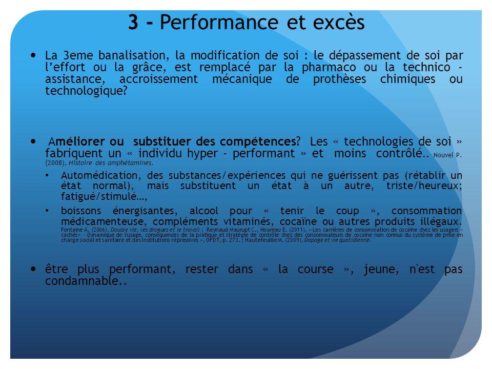3 - Performance et excès