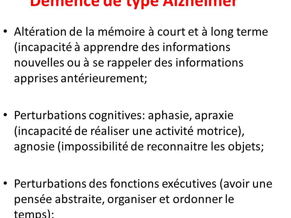 Démence de type Alzheimer