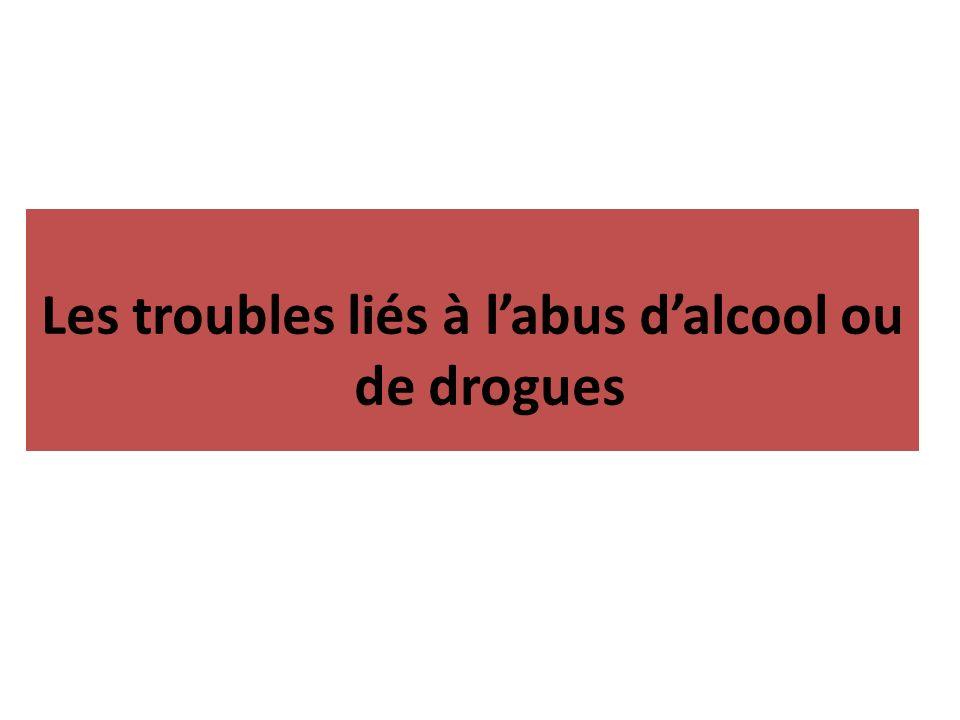 Les troubles liés à l'abus d'alcool ou de drogues