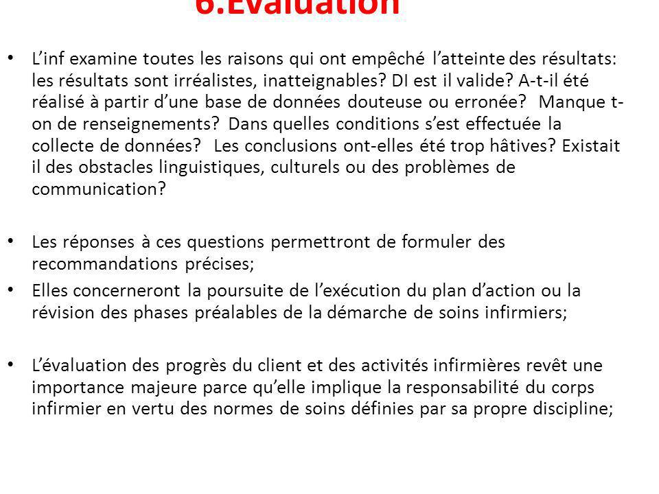 6.Évaluation
