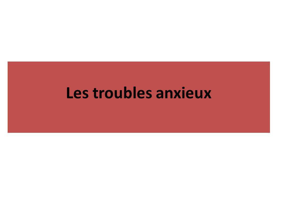 Les troubles anxieux