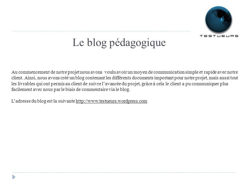 Le blog pédagogique