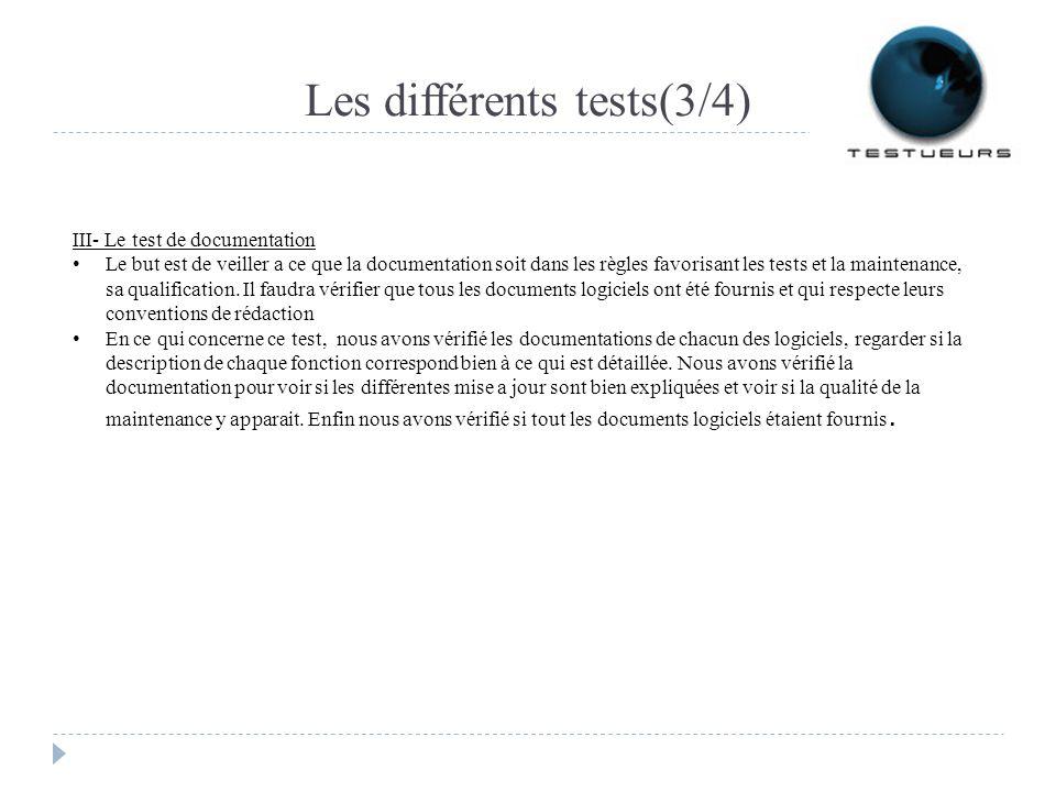 Les différents tests(3/4)