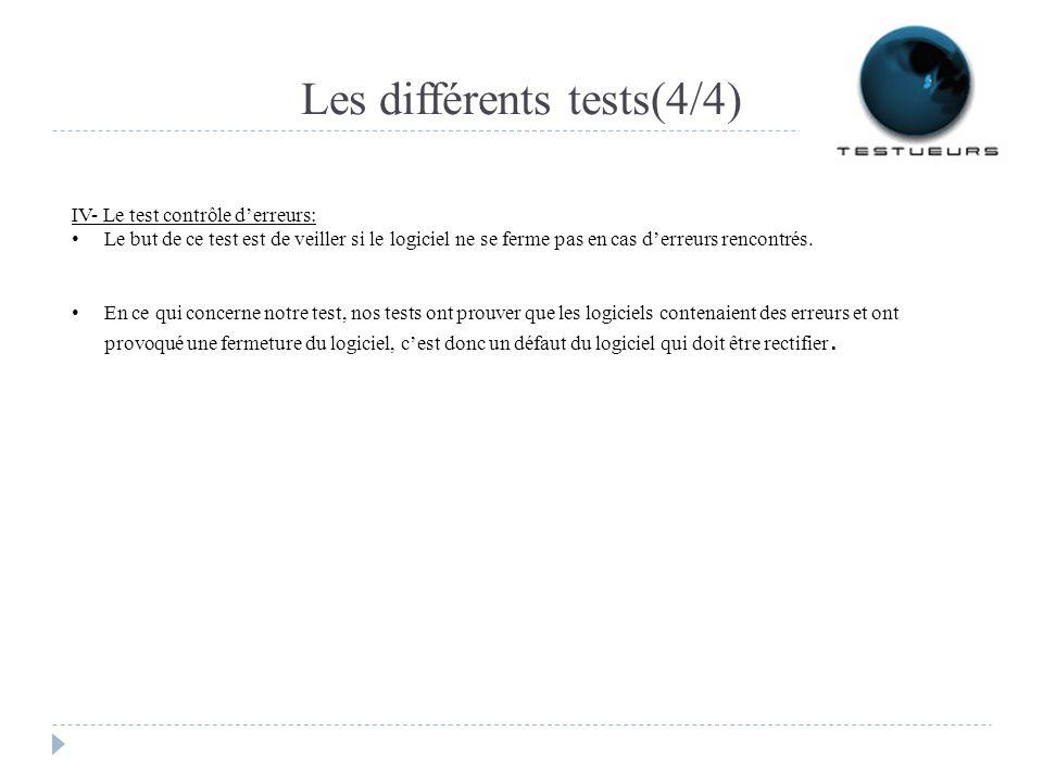 Les différents tests(4/4)