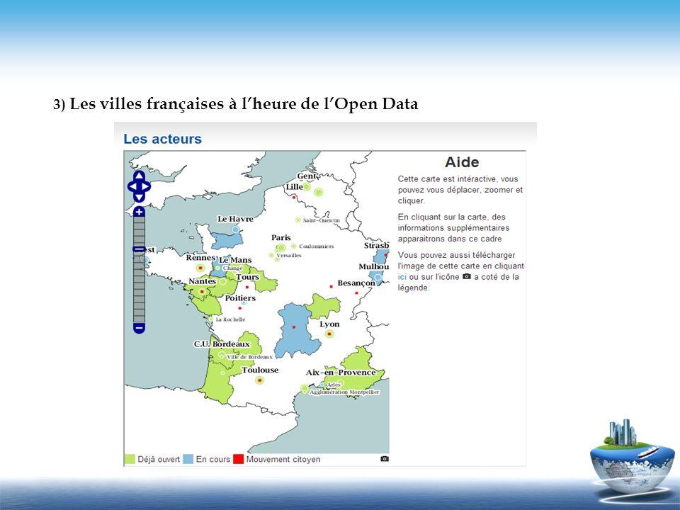 3) Les villes françaises à l'heure de l'Open Data