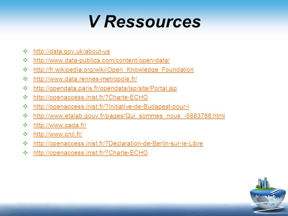 V Ressources http://data.gov.uk/about-us
