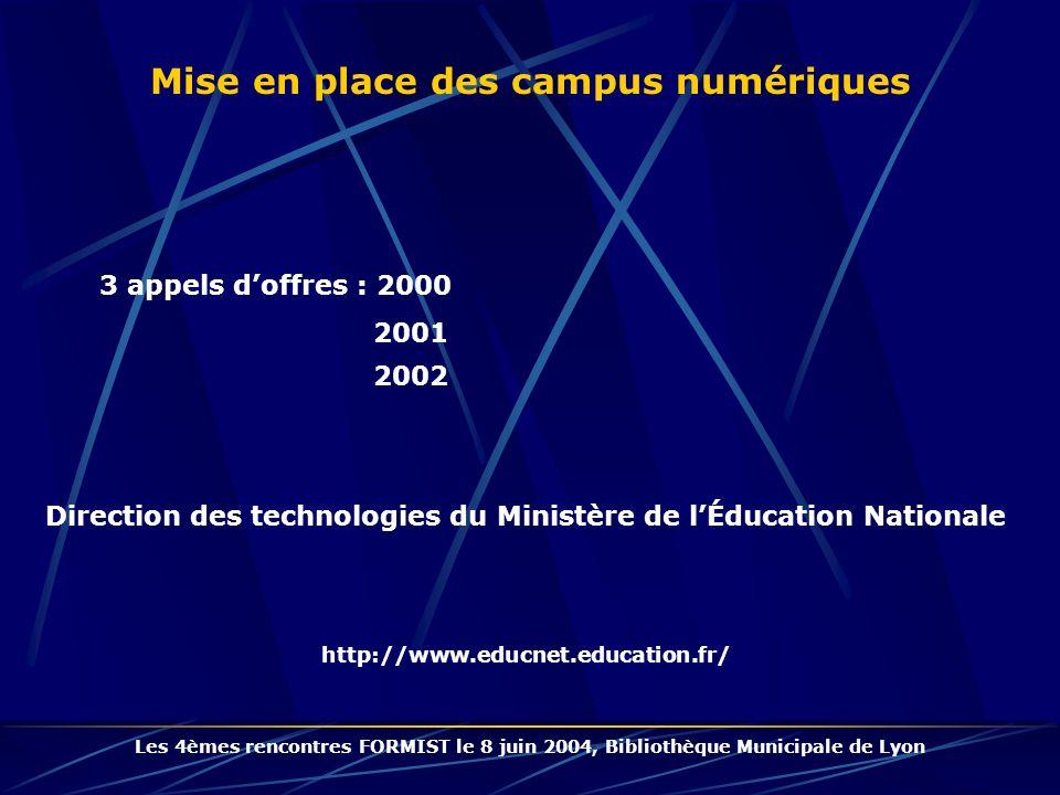 Mise en place des campus numériques