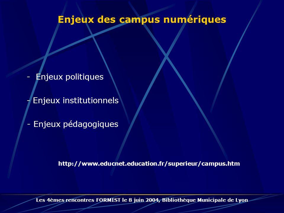 Enjeux des campus numériques