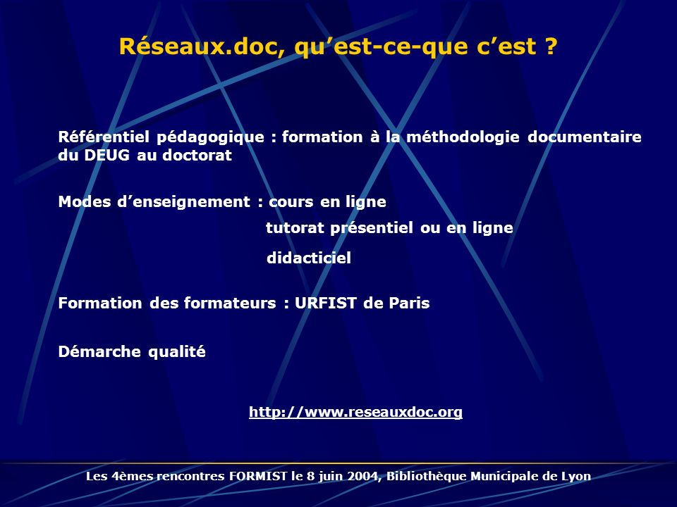 Réseaux.doc, qu'est-ce-que c'est