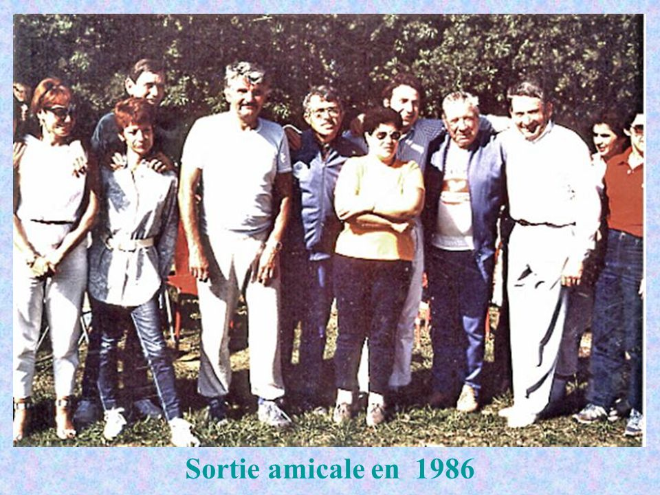Sortie amicale en 1986