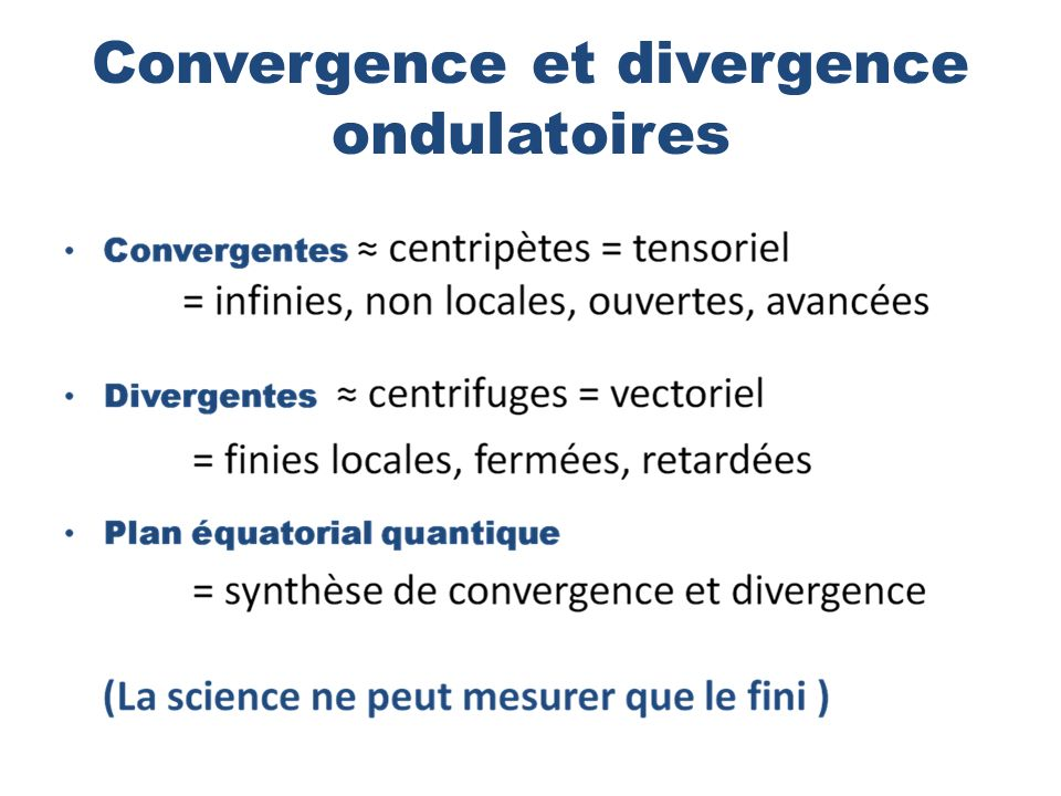 Convergence et divergence ondulatoires