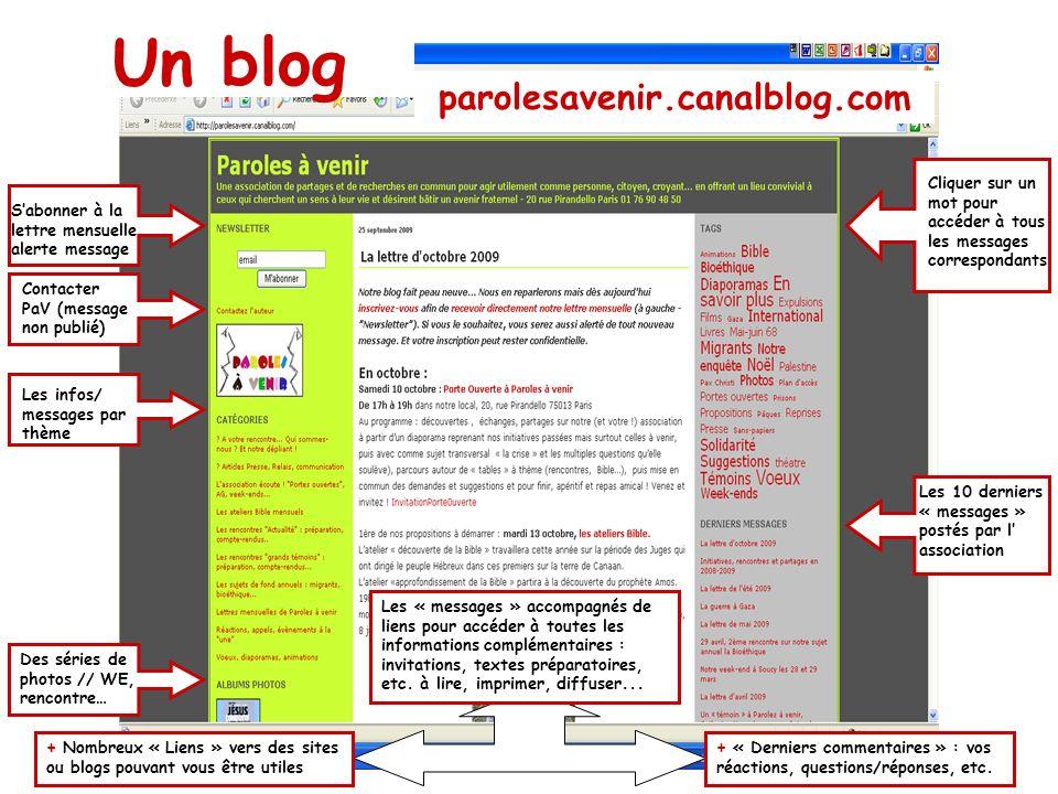 Un blog parolesavenir.canalblog.com