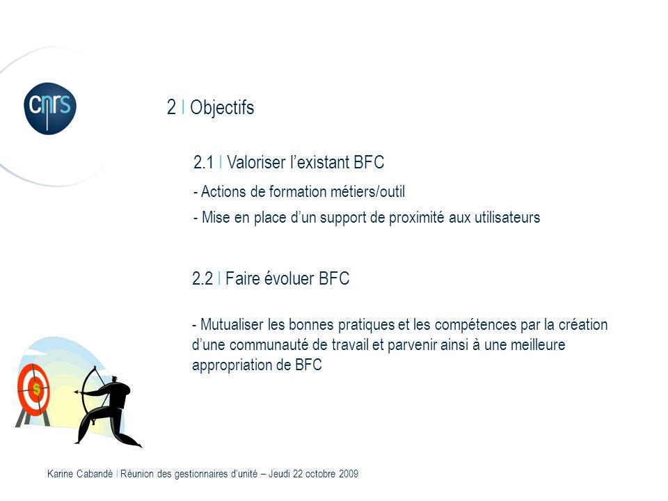 2 I Objectifs 2.1 I Valoriser l'existant BFC 2.2 I Faire évoluer BFC