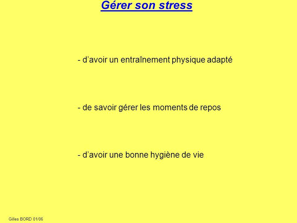 Gérer son stress - d'avoir un entraînement physique adapté