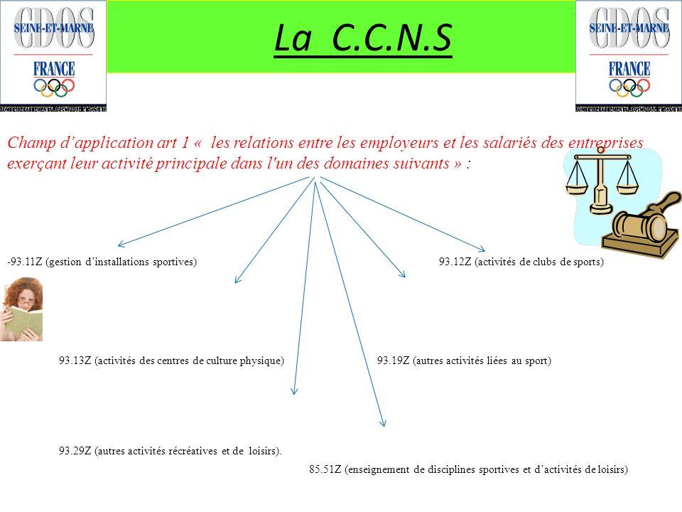 La C.C.N.S - 93.13Z (activités des centres de culture physique) 93.19Z (autres activités liées au sport)