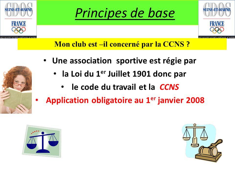 Principes de base Une association sportive est régie par