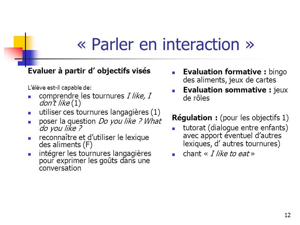 « Parler en interaction »