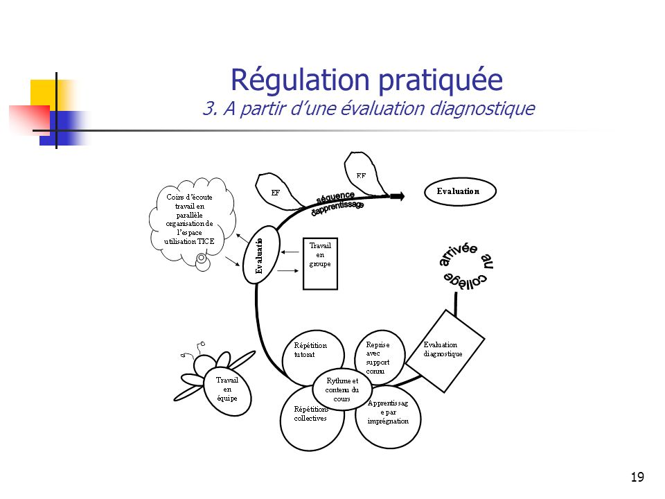 Régulation pratiquée 3. A partir d'une évaluation diagnostique