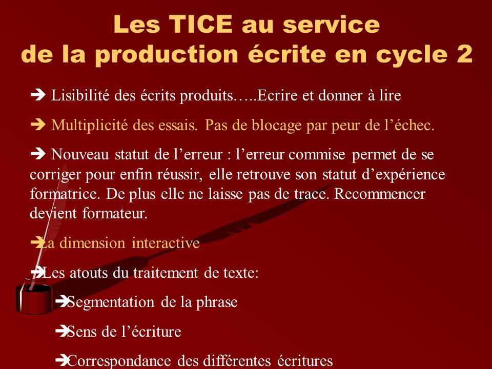 Les TICE au service de la production écrite en cycle 2