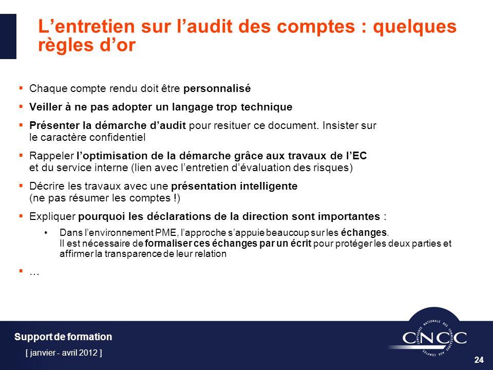 L'entretien sur l'audit des comptes : quelques règles d'or