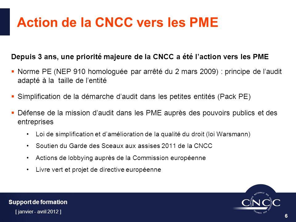 Action de la CNCC vers les PME