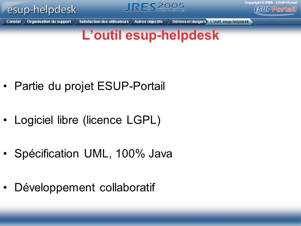 L'outil esup-helpdesk