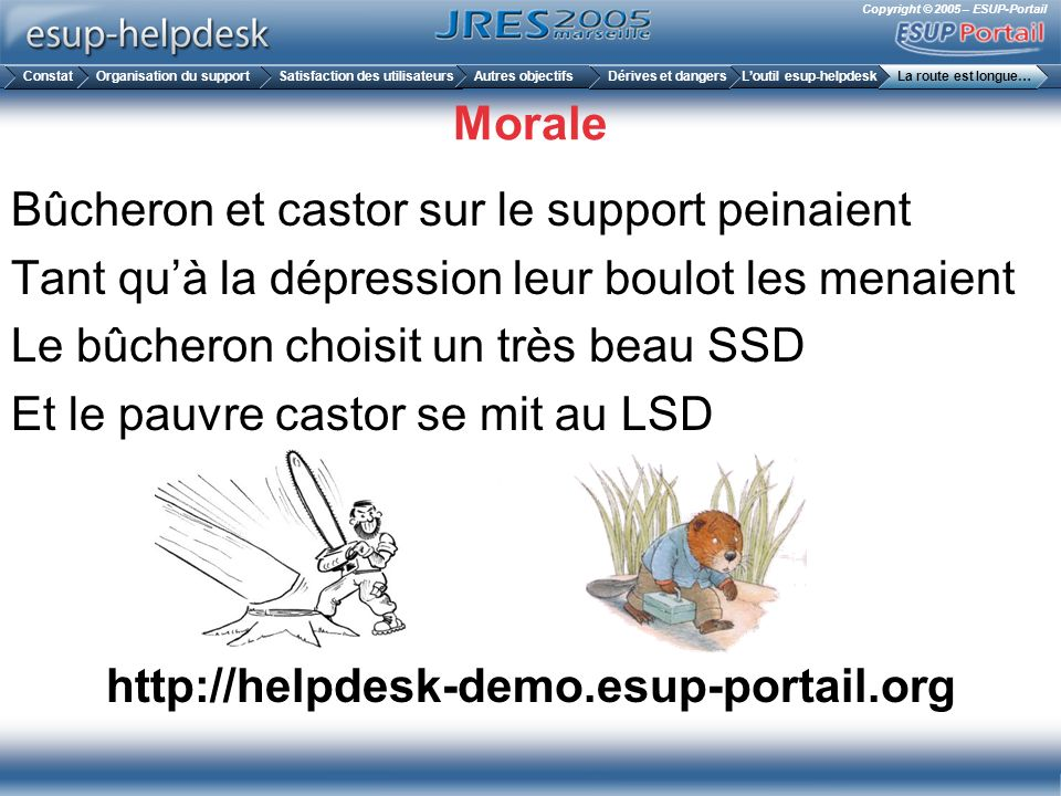 Morale http://helpdesk-demo.esup-portail.org