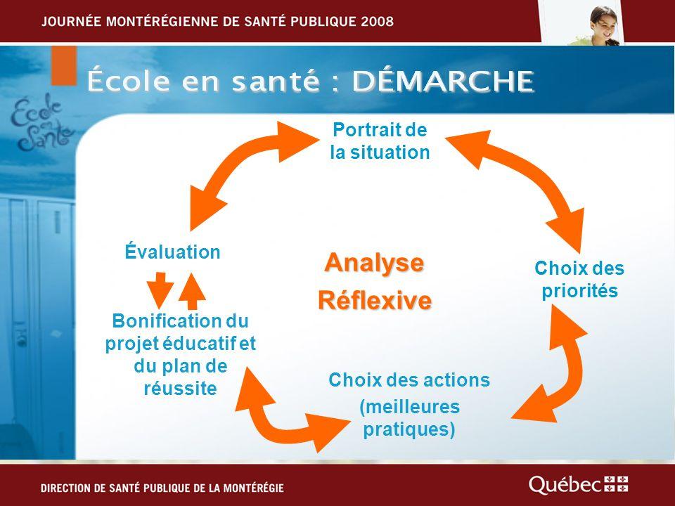 Analyse Réflexive Portrait de la situation Évaluation
