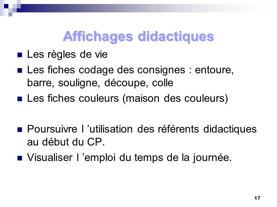 Affichages didactiques