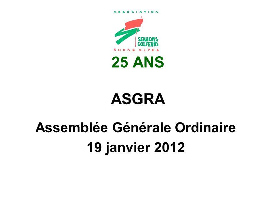 Assemblée Générale Ordinaire 19 janvier 2012