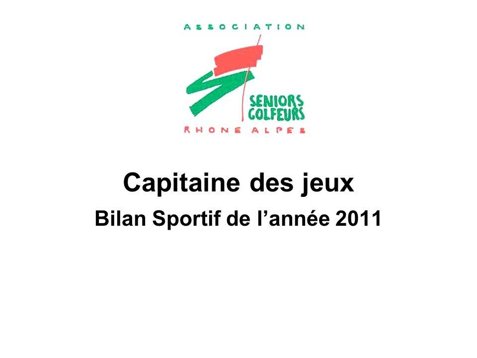 Bilan Sportif de l'année 2011