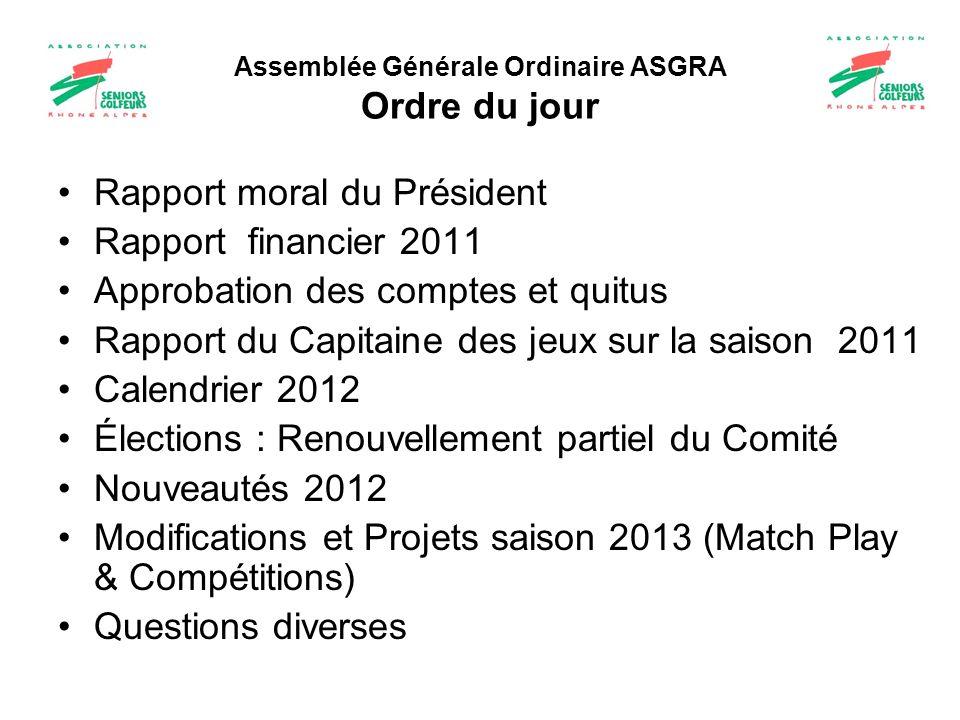 Assemblée Générale Ordinaire ASGRA Ordre du jour