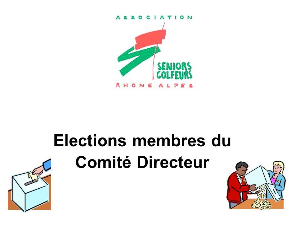 Elections membres du Comité Directeur