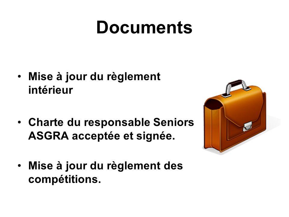 Documents Mise à jour du règlement intérieur