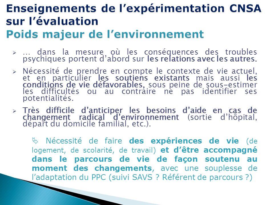 Enseignements de l'expérimentation CNSA sur l'évaluation Poids majeur de l'environnement
