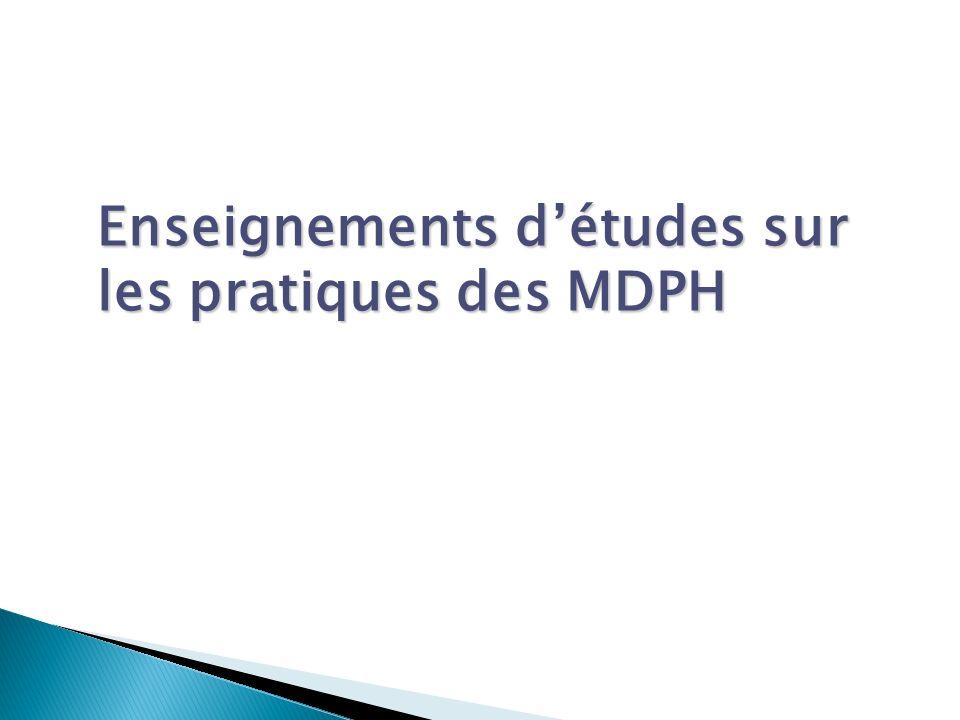 Enseignements d'études sur les pratiques des MDPH