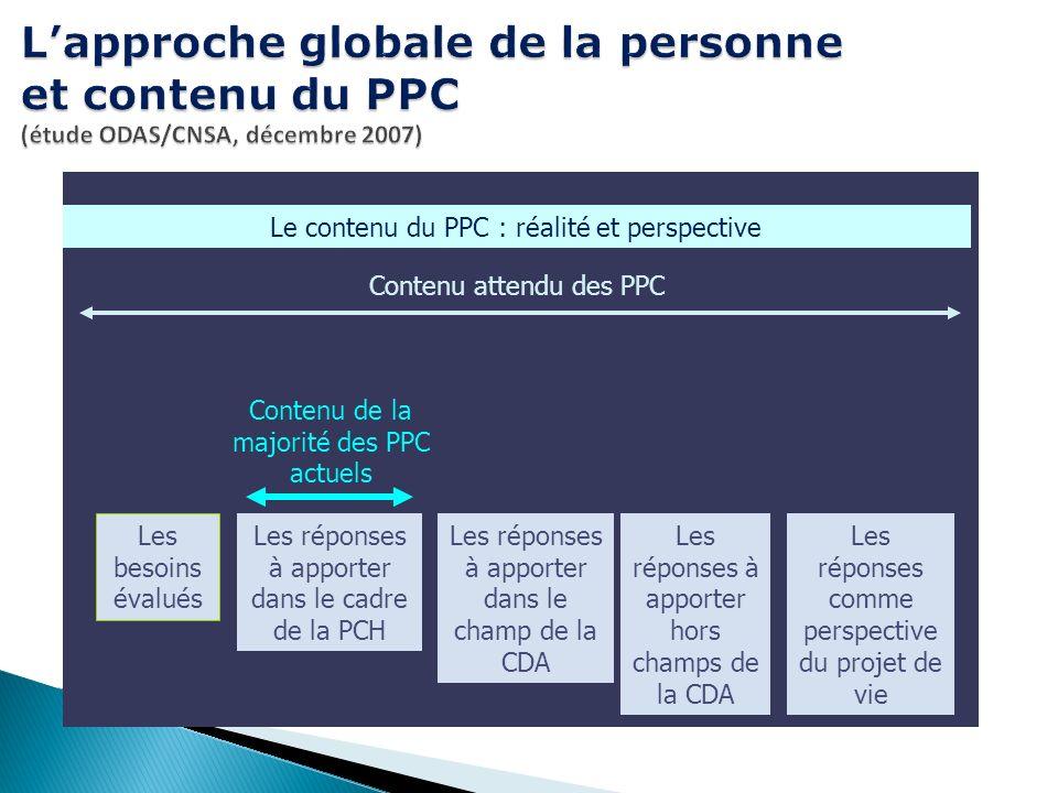 L'approche globale de la personne et contenu du PPC (étude ODAS/CNSA, décembre 2007)