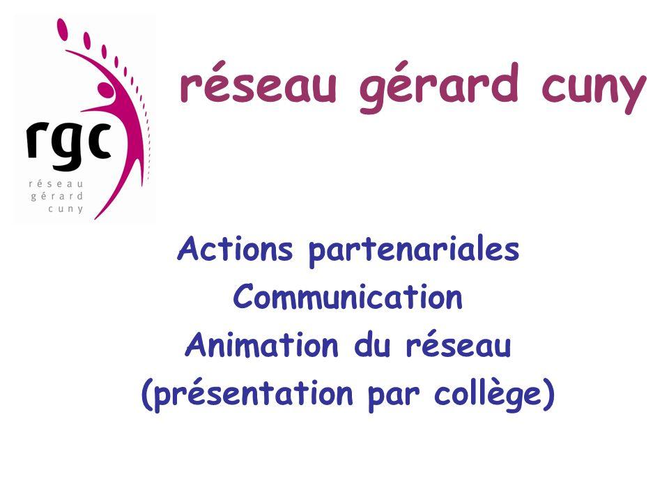 Actions partenariales (présentation par collège)