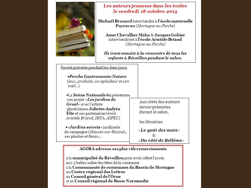 Les auteurs jeunesse dans les écoles le vendredi 18 octobre 2013