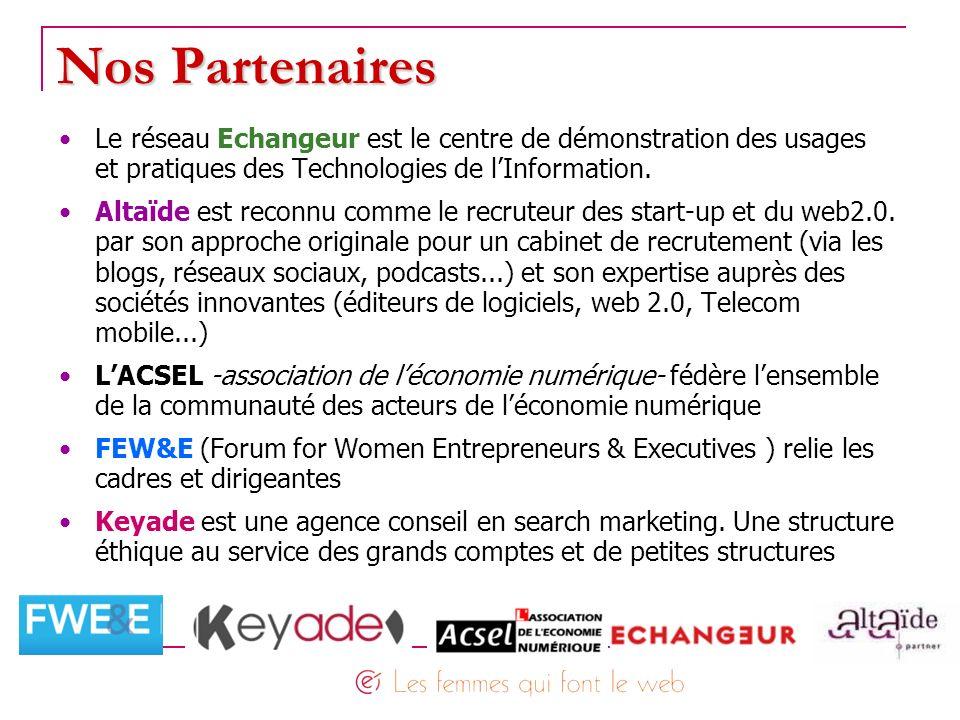Nos Partenaires Le réseau Echangeur est le centre de démonstration des usages. et pratiques des Technologies de l'Information.