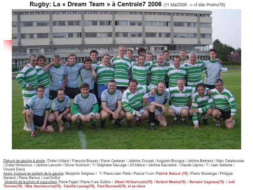 Rugby: La « Dream Team » à Centrale7 2006 (11 Mai2006 -> cf site Promo78)