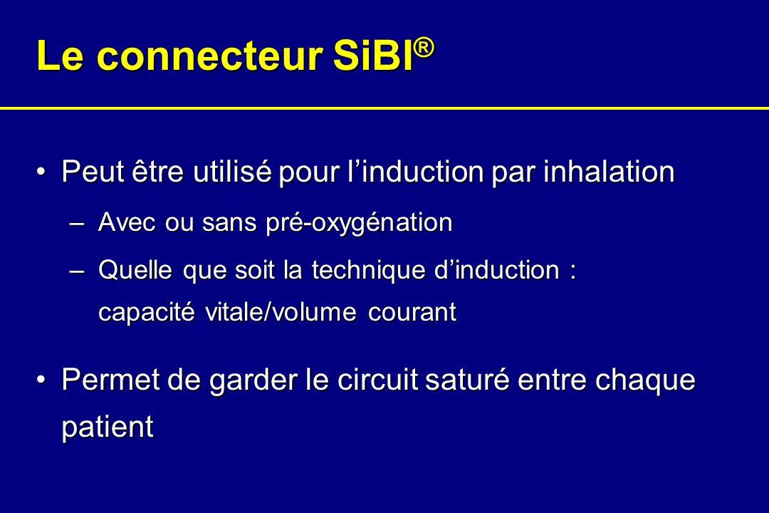 Le connecteur SiBI® Peut être utilisé pour l'induction par inhalation