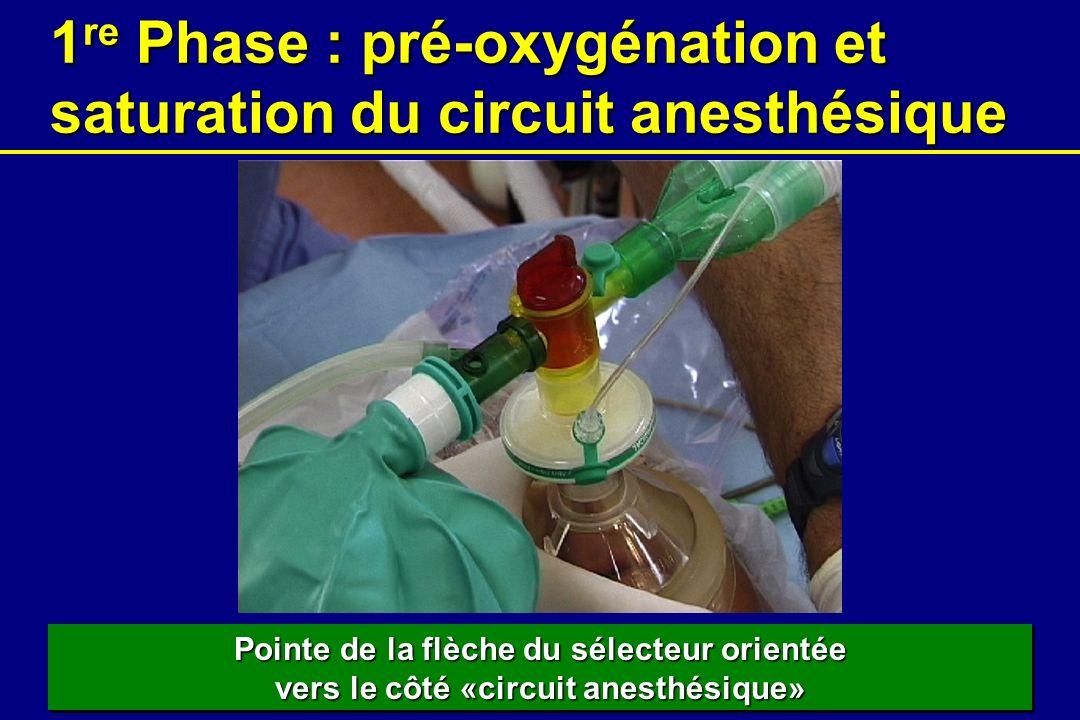 1re Phase : pré-oxygénation et saturation du circuit anesthésique