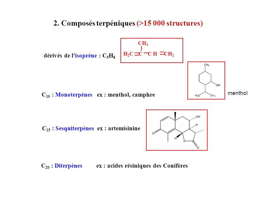 2. Composés terpéniques (>15 000 structures)