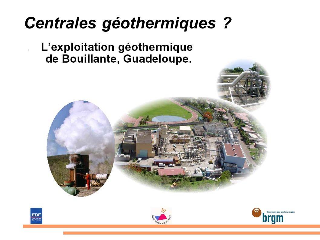 Centrales géothermiques