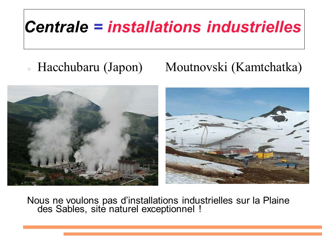 Centrale = installations industrielles